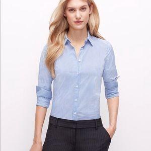 NWT Ann Taylor Striped Button Down Work Shirt